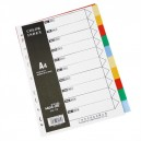 Index A4 PVC 10 Colors